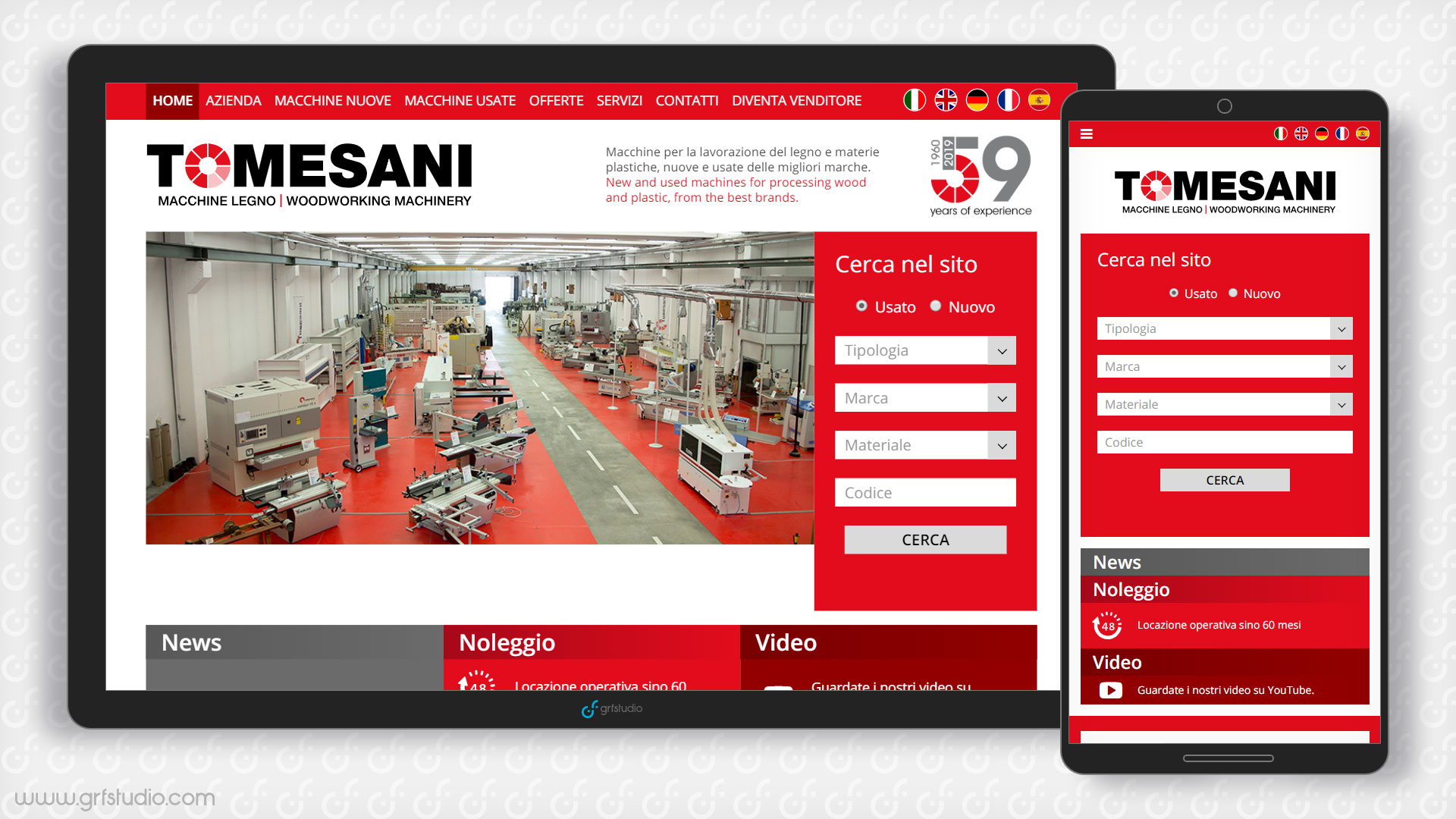 realizzazione sito web responsive multilingua; agenzia di comunicazione